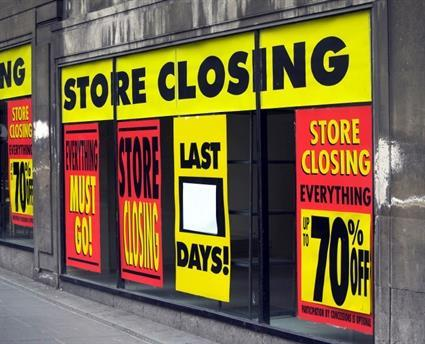 Store closing retail high street recession